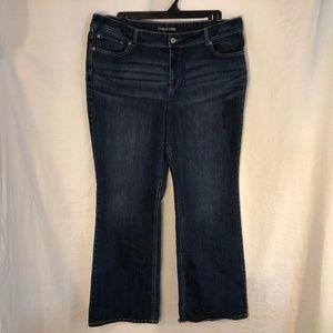 Maurices Plus Size 22 Jeans Boot Cut Blue 1269